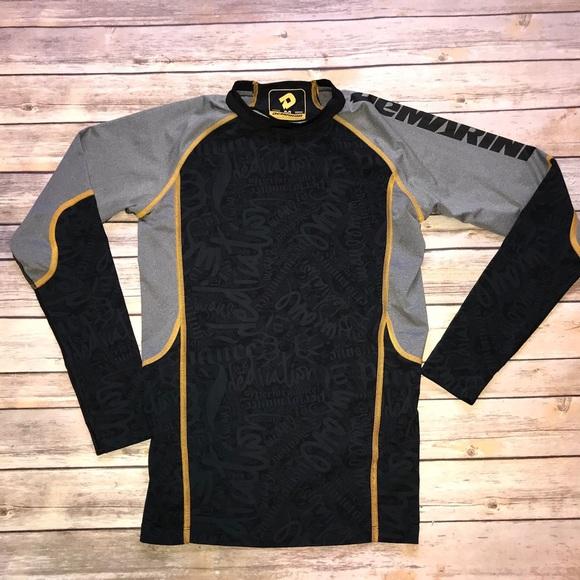 ffbef8dd6 DeMarini Shirts & Tops | Boys Fitted Mock Neck Shirt Black Print ...